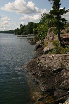 Muskoka, rocky shores