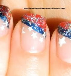 4th of July Nail Design | Nail Art - Nail Polish