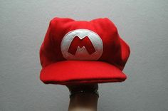 Mario hat tutorial found here....   http://www.fleetingthing.com/handmade/dress-up/Super-Mario-hat/&2_2_48