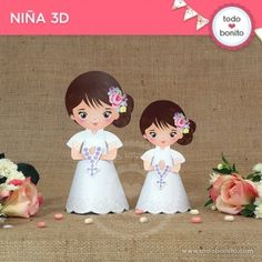 Buscar - Todo Bonito First Communion Favors, Ideas Para Fiestas, Paper Flowers, Cute Girls, Minnie Mouse, Disney Characters, Fictional Characters, Projects To Try, Disney Princess