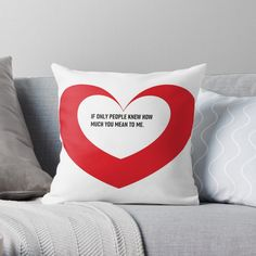 'Valentine day heart gifts' Throw Pillow by CthroughMYeyes