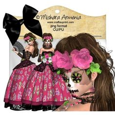 La Catrina1 on Craftsuprint designed by Mishara Armenia - �Mishara Armenia Commercial and personal use ok / CU4CU. Don't resell them in their original form (as poser tubes). Don't claim my work as yours. These tubes can be resized and recolored. - Now available for download!