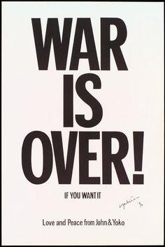 War is Over!, Yoko Ono and John Lennon, 1969