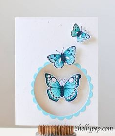 Hero Arts Butterflies - TLLB  Want to try with the new SU! Papillon Potpourri set!