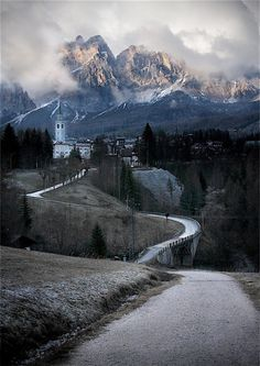Mountain Village, Cortina d´Ampezzo, Italy.  With beauty like this, all you need is time...lots of time to fully enjoy and appreciate it!