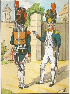 French; 8th Line Infantry, grenadier & Grenadier Officer, Tenue de Parade, 1803