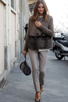 Armani jacket, trousers, Mulberry pumps