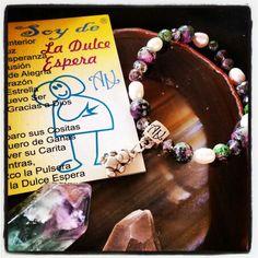 #Pulsera de la Dulce Espera de #ArtAbalori #joyas #minerales