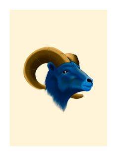 12 x 16 It's not as good as Kurt Warner, but it's pretty close. A ram painted in gold and blue. Digitally painted by hand mostly, on an iPad. Printed on premium matte paper. Poster Colour, New Artists, Whimsical, Watercolor, Sports Painting, Blue Canvas, Prints, Animals, Mlb