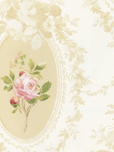 Cameo and Roses Wallpaper  (SS20704 / Page 14 / Cottage English by Sandpiper)