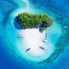 Boslon Island of Surigao del Sur, Philippines