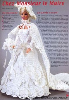 I love finding Barbie dresses with diagrams - ♥LCD♥ One of my future projects is doing my own Barbie crochet collection to be display at a community center.
