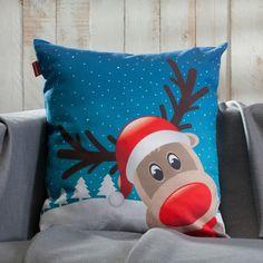 Rudolf, bist du das?  #rudolftherednosereindeer #kissen #winter #weihnachten