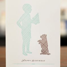 Image of Boy Silhouette Card