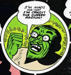 "atomic-flash: "" The Strange Case Of Professor Radium - Batman Vol 1 December, Primary Artist: Bob Kane "" Comics Vintage, Old Comics, Vintage Comic Books, Comic Books Art, Comic Art, Comic Book Panels, Horror Comics, Crime Comics, Book Images"