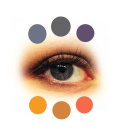 Siniharmaat silmät: sukulaisvärit: siniharmaa, harmaa, sininen. Vastavärit: Kulta, aprikoosi, lohenpunainen - Saara Sarvas - Blogi | Lily.fi
