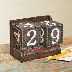 Vintage Block Perpetual Calendar