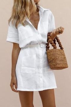 H-Shaped Belt Elegant Shirt Dress – ebuytide fashion summer dresses summer dresses floral pretty summer dresses summer dress outfit dresses for summer Source by ebuytidecom summer Pretty Summer Dresses, Summer Dress Outfits, Casual Summer Dresses, Modest Dresses, Dress Casual, Dress Summer, Maxi Dresses, Elegant Dresses, Spring Summer