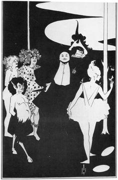 Aubrey Vincent Beardsley - Entwurf für das Titelbild von »Plays« von John Davidson