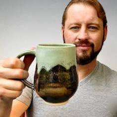 ceramic Mug or Beer Stein  coffee mug tea mug wheel by OneClayBead, $25.00