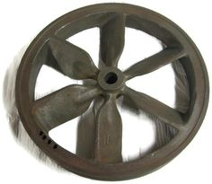 16 Inch Air Compressor Cast Iron Flywheel Pulley Spoked 3 Groove V-Belt Sheave
