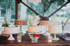 Single-Tier Wedding Cakes, Whimsical Toppers