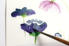 Tutorial on painting simple watercolour flowers How to Create Watercolor Flowers | The Postman's Knock