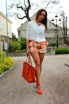 Your Outfit Today » Orange & White, August 4 2014