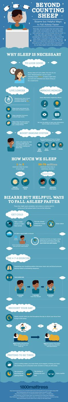 Helpful Tricks to Fall asleep Faster! Infographic #Infographics