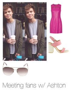 """Meeting fans w/ Ashton"" by officialarianagrandebutera ❤ liked on Polyvore featuring Versus and Louis Vuitton"