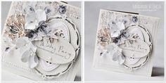 Kartki ślubne na bazie kolekcji PION-u   Alma's Sewing Room ze ScrapButiku .                       Pozdrawiam :)