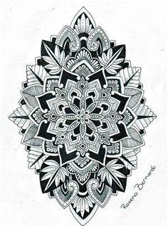Mandala Tattoo Mann, Sunflower Mandala Tattoo, Mandala Flower, Geometric Mandala Tattoo, Mandala Tattoo Design, Flower Tattoo Designs, Tattoo Designs Men, Flower Tattoos, Flower Tattoo For Men
