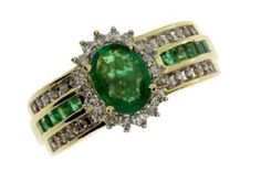 14k 1.9ct Diamond Emerald Ring