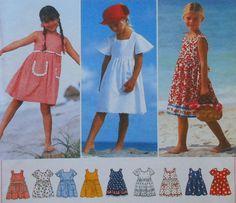 Girls Summer Beach Dress Sewing Pattern