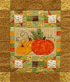 Sewing projects - free quilt patterns - pumpkin pattern