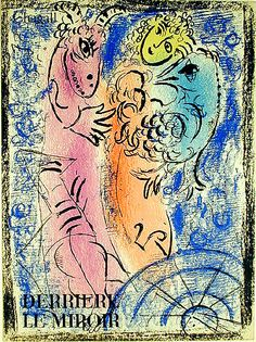 The trap (M. 355). Original color lithograph, 1962. 75 signed & numbered impressions + c. 2000 unsigned impressions (of which ours is one) as published in the deluxe art review, Derrière le Miroir in 1962. Illustrated in the 1988 Moscow Chagall Exhibition. The image shows the artist between his two selves, the bird that would lift him off the earth and the goatish self that wants to keep him firmly rooted to the world and its pleasures. Image size: 370x270mm. Price: $1,250.