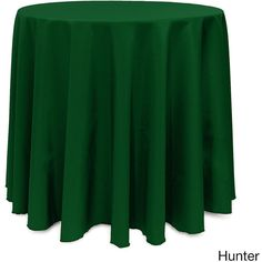 Solid Color 108-inches Round Vibrant Tablecloth ($39) ❤ liked on Polyvore featuring home, kitchen & dining, table linens, green, colored tablecloths, round table linens, spring tablecloth, spring table linens and fall table linens