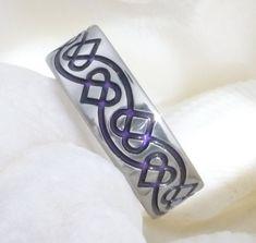 Titanium Irish Celtic Wedding Band - ck35 Purple