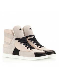 a3fa2fa661f High top color-block suede and vitello leather leather flat sneakers  Giuseppe Zanotti Design