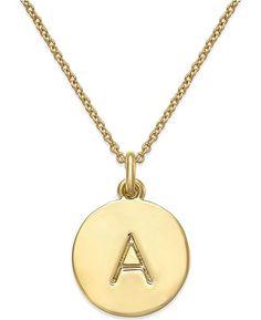 09b5f0af3bfa 12k Gold-Plated Initials Pendant Necklace