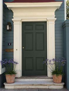 Front door entrance, house front door, house with porch, house door Front Door Molding, Front Door Trims, Front Door Entrance, House Front Door, Front Door Design, Front Door Colors, House Doors, Entry Doors, Garage Doors