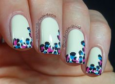 Totally Nailed: Fun French Tips - Animal Print Fancy Nails, Love Nails, Trendy Nails, How To Do Nails, Fun French Manicure, French Manicures, Nail Manicure, Nail Polish, Leopard Print Nails