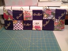 My first Crown Royal Pot Holders that I made using the Purple Crown Royal Bags......The front side