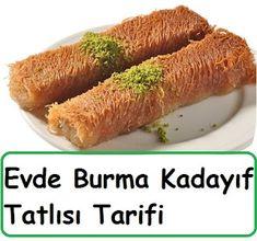 Home Burma Kadayif Dessert Rezept - Yemek - Burma, Girl Blog, Hot Dog Buns, Yummy Food, Vegetables, Desserts, Yogurt, Fruit Recipes, Fast Recipes
