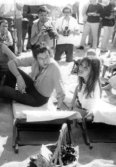 Serge Gainsbourg and Jane Birkin - Cannes Film Festival - 1969