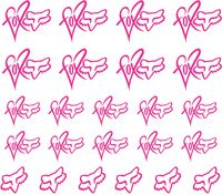 Fox Racing - Pink2 | Nail Decals