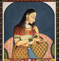 Paintings, Indian Paintings, woman paintings, Miniature, Historical paintings, colorful painting, Beautiful Mughal Era Paintings