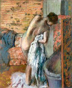 Edgar Degas 1834 -Après Le Bain (Femme S'essuyant) - between ca 1882 and ca 1885 Medium - pastel on paper