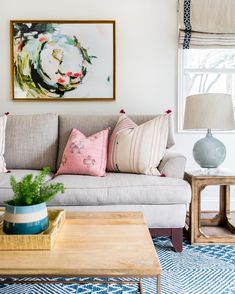 A few large pillows on a sofa looks cleaner than several smaller ones. Design tip, order your inserts a size larger than your pillow cover…