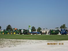 Tractors & tillage equipment in the yard